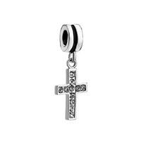 Birthstone Charms Clear Crystal April Birthsone Celtic Claddagh Irish Cross Dangle Gift Beaded