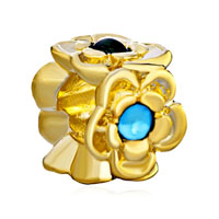 Pugster Silver Golden Floral For Green Pin Gold Plated Beads Charms Bracelets Fit All Brands
