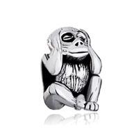 Silver Plated Hear No Evil Monkey European Bead Charms Bracelets