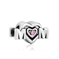 Mom Charms Pink Swarovski Elements