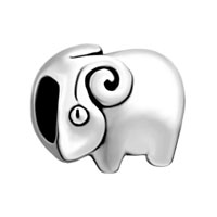 Silver Jewelry Cute Ram European Infant Charm Bead Charms Bracelets