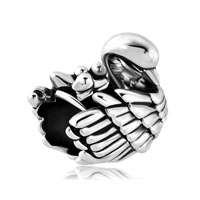 Mom And Three Baby Child Swan Family Love Animal Charm For Bracelets