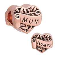 Rose Gold Family Tree Of Life Hollow Heart Love Mum Mom Bead Fit Charms Bracelet