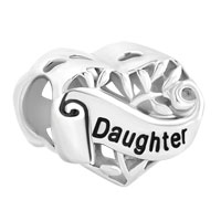 925 Sterling Silver Family Tree Of Life Hollow Heart Love Daughter Fit Beads Charms Bracelets All Brands