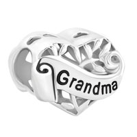 Sterling Silver Family Tree Of Life Hollow Heart Love Grandma Bead Fit Charms Bracelet