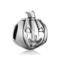 Silver Tone Jackolantern Halloween Pumpkin Beads Charms Bracelets