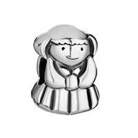 Silver Plated Little American Girl Charm Bracelet European Bead