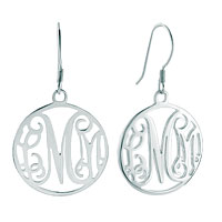 Monogram Initial Earrings 925 Sterling Silver Custom Made Earrings