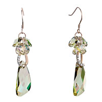 Jonquil Crystal Cluster Dangle Drop Wing Earrings Gift