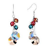 Classic Colorful Swarovski Crystal Dangle Waterdrop Earrings