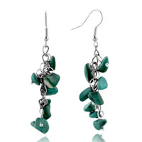 Amazonite Chip Earrings Green Gemstone Nugget Chips Stone Dangle Earring
