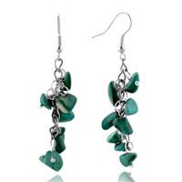 Amazonite Chip Earrings Green Gemstone Nugget Chips Stone Dangle Earring