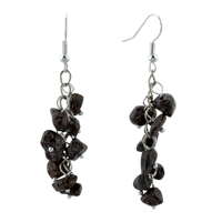 Black Onyx Chip Stone Earrings Gemstone Nugget Chips Dangle Earring