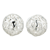 Silver Ball Letters C Sterling Earring