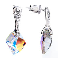 Fantastic April Birthstone Crystal Dangle Drop Earrings