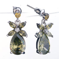 November Birthstone Drop Crystal Dangle Earrings Jewelry Fashion