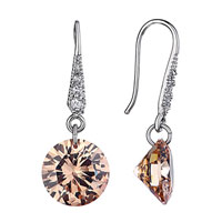 Topaz November Birthstone Crystal Dangle Earrings