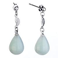 Fashion Women S Leaf Dangle White Drop Dangle Earrings