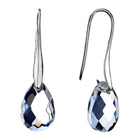 Elegant April Birthstone White Drop Earrings