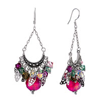 Classic Colorful Items Dangle Pink Swarovski Swarovski Crystal Sale Earrings