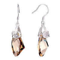 Golden Shadow Austrian Crystal Hook Dangle Earrings For Women