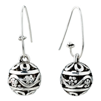 Ball Flower Pattern Vintage Hook Earrings Dangle For Women