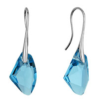 Mothers Day Gifts February Birthstone Tanzanite Swarovski Crystal Crystal Galactic Drop Focal Dangle Earrings