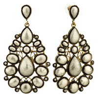 Golden Drop Dots Re Holiday Earrings