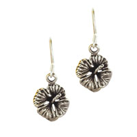 Hot 925 Sterling Silver Lily Pad Vintage Flower Dangle Earrings