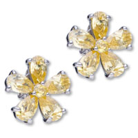 Flower November Birthstone 925 Sterling Silver Stud Earrings