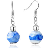 Blue Irregular Earrings Murano Glass Dangle For Women