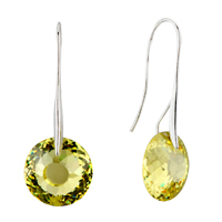 November Yellow Birds Nest Swarovski Crystal Earrings