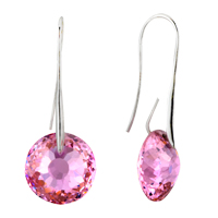 October Pink Birds Nest Crystal Earrings