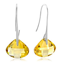 November Champagne Shell Swarovski Crystal Drop Earrings