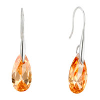 Champagne Angel Pave Teardrop Swarovski Crystal Earrings