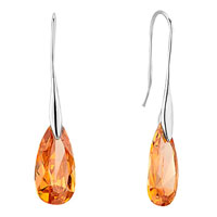 November Yellow Angel Pave Teardrop Swarovski Crystal Earrings