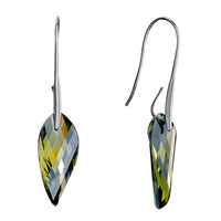 Beautiful Olivine Rhinestone Crystal Utopian Oval Dangle Earrings