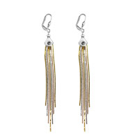 Elegant Tassel Dangle Cluster Earrings