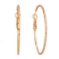 18 K Gold Plated Simple Hoop Earrings