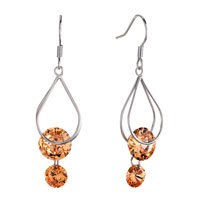 Fine Teardrop Frame Dangle Topaz Crystal Sale Silver P Earrings