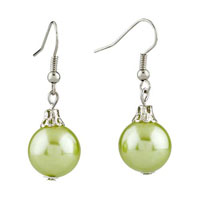 Resin Pale Green Ball Earrings For Women