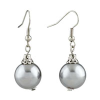 Resin Silver Ball Earrings For Women