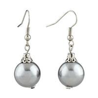 Resin Silver Ball Earrings For Women
