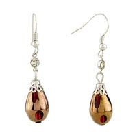 Drop Red Resin Earrings For Women