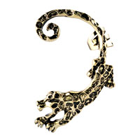 Gothic Temptation Antique Jaguar Animal Ear Wrap Stud Punk Rock Cuff Earring Left Ear