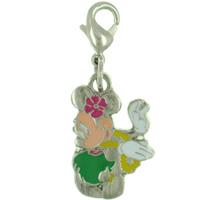 Hula Minnie Link Charm Clasp Charm
