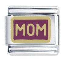 Golden Italian Charm Bracelet Mom Gift