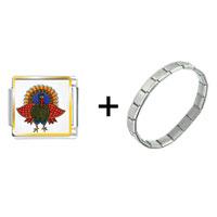 Items from KS - folk art turkey combination Image.