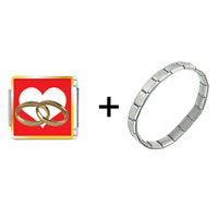 Items from KS - wedding rings heart combination Image.