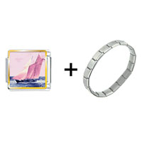 Items from KS - sail boat photo charms combination Image.